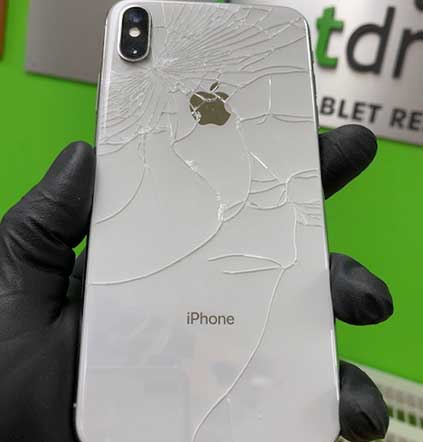 iPhone Back Glass Cracked